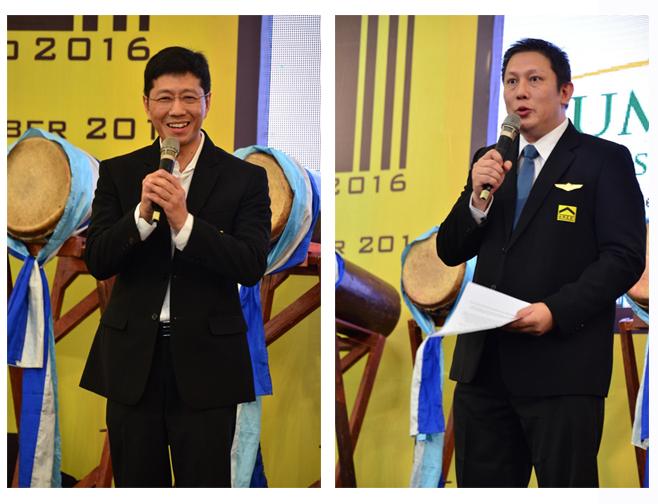Kiri: David Christovani (Ketua Panitia ABEx 2016), Kanan: Lie Min – (Ketua AREBI DPD Banten)