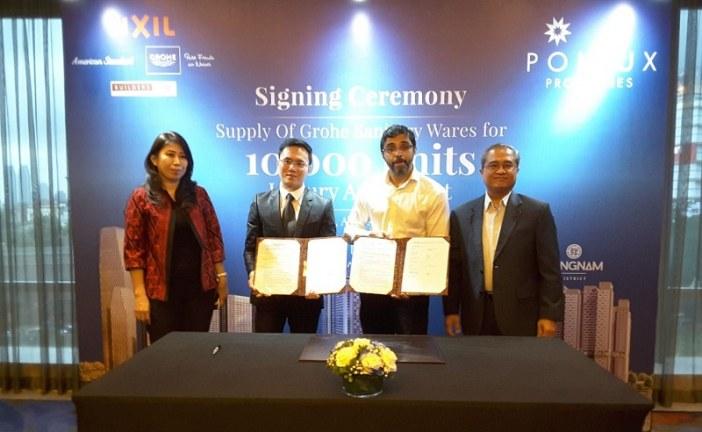 Signing Ceremony Pollux Properties dengan GROHE sebagai Penyuplai Sanitasi