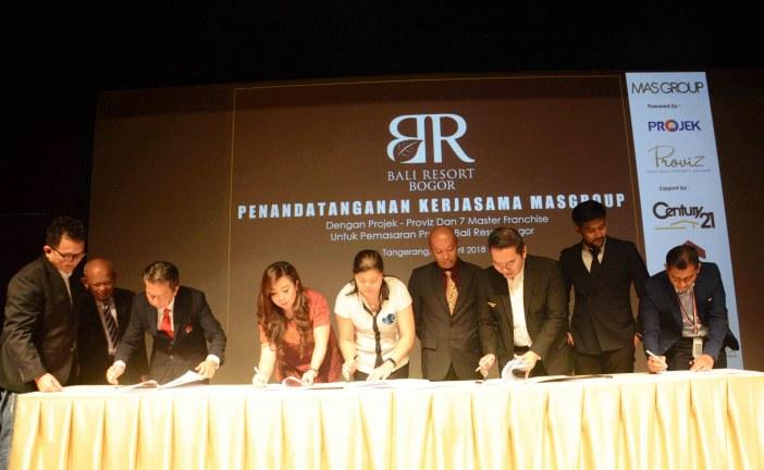 Gandeng PROJEK dan 7 Master Franchise, PT Mekar Agung Sejahtera  Pasarkan Bali  Resort Bogor