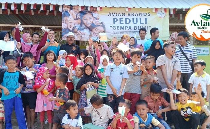 Hunian Sementara (Huntara) Dibangun Avian Brands Bagi Korban Gempa Lombok