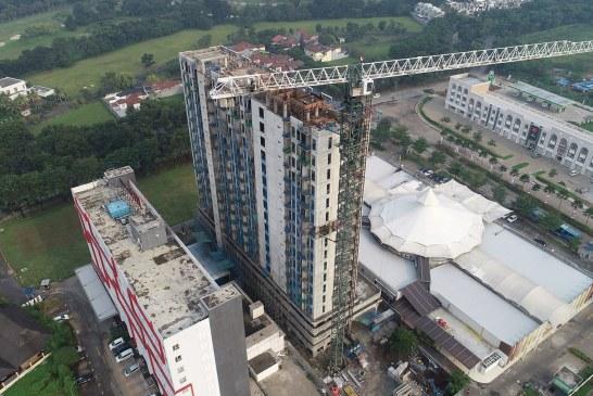 Monroe Apartemen Jababeka Residence Resmi Topping Off