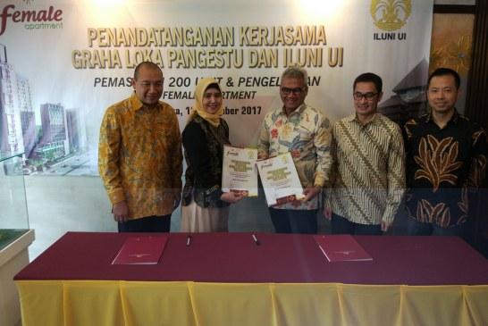 Gandeng ILUNI UI, PT Graha Loka Pangestu Pasarkan 200 unit Female Apartement