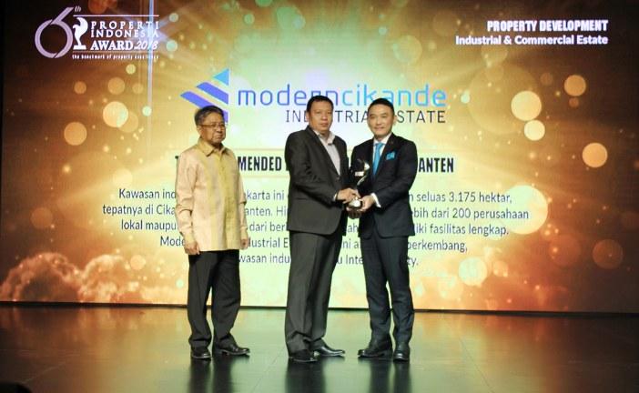 ModernCikande Industrial Estate Sabet Penghargaan  Properti Indonesia Award 2018