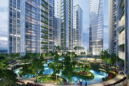 Penuhi Komitmen, Proyek Mega Superblok Rp15 Triliun BJ Habibie Gelar Topping Off untuk Tower ke 3