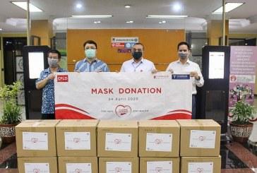 Aksi Nyata CFLD Indonesia Perangi Covid-19 Melalui Donasi 100 Ribu Masker